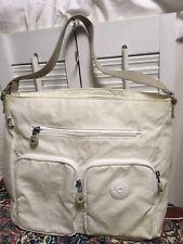 Kipling Tasmo Lacquer Pearl Nylon Should Handbag Purse Multi-Compartment Travel