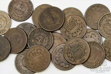1864-1871 Two Cent 2c Asst Date 20 US Coins, Circulated 21880