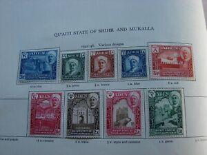 Aden Qu'aiti Shihr Mukalla - George VI MINT STAMPS FROM SG Printed Album-