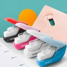 Mini Stapleless Stapler Paper No Nails Portable School Office Supply V2G7