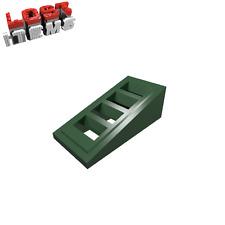 10 x [neu] LEGO Dachstein 18° 2 x 1 x 2/3 mit 4 Schlitzen - dunkelgrün - 61409