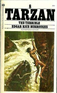Tarzan The Terrible #8 Edgar Rice Burroughs Vintage Paperback Very Good 1974