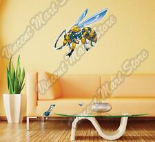 """Robot Wasp Bee Yellow Hornet Insect Wall Sticker Room Interior Decor 25""""X20"""""""