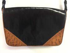 Pollini Italy  Leather Purse Bag Crossbody Black Brown Gorgeous Soft