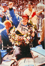 Jacques Villeneuve SIGNED 12x8 Victory Lane  Portrait Indianapolis 500 1995