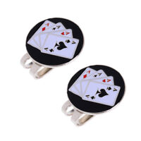 2pcs Golf Ball Marker Magnetic Hat Clip Detachable Cap Clip Gift Birds Card