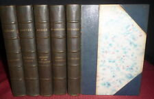 Comedie D'Amour Series 1905. 5V Fine LtdEd. Leather, Prevost, Gautier, Goncourt