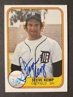 Steve Kemp Vintage Signed 1981 Fleer Card #459 --- Detroit Tigers --- AUTOGRAPH