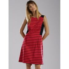 Tommy Hilfiger Red Navy Sttriped Fit and Flare Dress sz14 Preppy