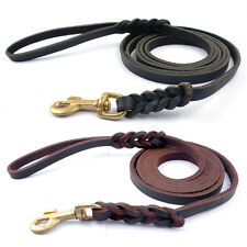 Genuine Leather Dog Leash Training Braided Dog Leash for German Shepherd K9
