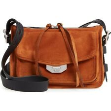 NEW Rag & Bone Field Tan Brown Suede Leather Messenger Crossbody Bag $695