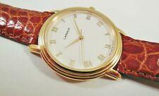 Lassale by Seiko Gold Tone Metal 7N01-F030 Calfskin Sample Watch NON-WORKING