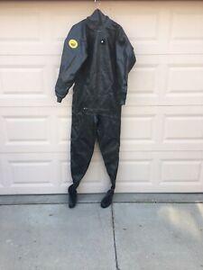 Viking-Scandinavian diving Equipt.Dry suit(sz.4)#6011682-black