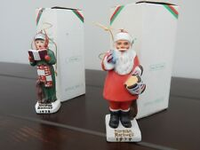 Norman Rockwell Ornament Combo 1978 Nrx-24 Carroler & 1979 Nrx-24 Drum For Tommy