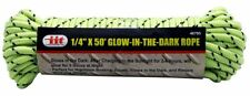 """1/4"""" x 50' Glow In The Dark Floating Poly Rope Line phosphorescent boating tent"""