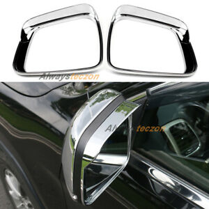 For Jeep Grand Cherokee 2011-2019 Chrome Rearview Mirror Rain Protector Trim