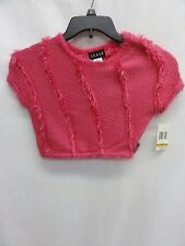 GUESS Girls' Dolman Sleeve Hairy Yarn Stripe Sweater, Fuchsia, 3T