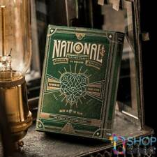 GREEN NATIONAL THEORY 11 PREMIUM PLAYING CARDS DECK MAGIC TRICKS GOLD SEALED NEW