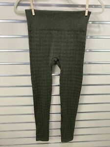 ONE 5 ONE NWOT Women's L/XL Olive Green  Textured Knit Footless Tights