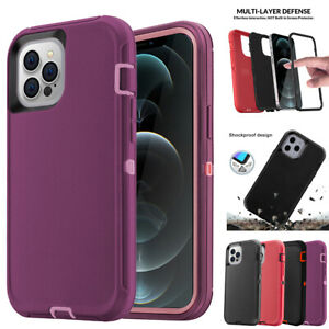 For iPhone 12 Pro Max Mini Case Rugged Heavy Duty Armor Cover Fits Otterbox Clip