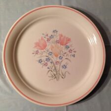 Corelle French Garden (Floral w/ Pink Band) Dinner Plate by Corning