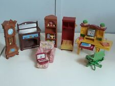 Fisher price loving family furniture and  accessories lot