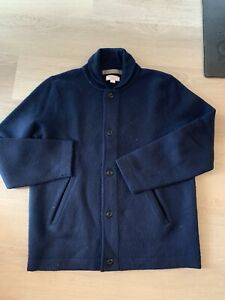 Wallace & Barnes Large L Navy Merino Wool Deck Jacket Great Condition $180