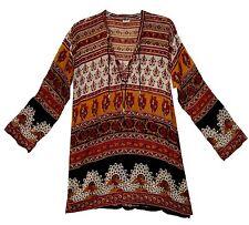 Indian Top Long Retro Usa Womens S M L Tank Cotton Shirt T Sleeve Cami Free Ship