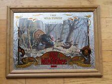 "Old Milwaukee Beer Bar Mirror  ""Wild Turkey"""