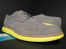 2012 COLE HAAN LUNARGRAND WING.TIP CHARCOAL GREY SUEDE YELLOW C10226 9