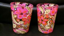 Pair Party Lite Funky Mod Retro Candle Holders, Votive, Excellent
