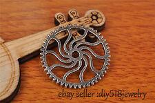 10s 25mm charm gear pendant DIY Jewelry make Bead For Bracelet Tibet Silver 7197