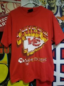 Vtg Kansas City Cheifs Magic Johnson T's Large 1995 Rare All Over Print NFL