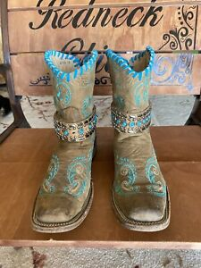 Circle G Dragonfly Ladies Cowboy Boots Size 10