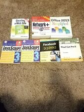 java script books, creating a website, office 2013 simplified,  facebook for dum