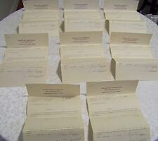 8 Antique 1914 State of Colorado Mine Stock Waiver Documents