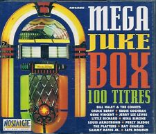 COFFRET 4 CDS COMPIL 100 TITRES--JUKE BOX--HALEY/COMETS/BERRY/COCHRAN/LEE LEWIS