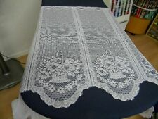 1 metre tissu voilage rideau cuisine chambre blanc   h59cm neuf mercerie ref05