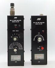 Vintage MFJ VHF SWR Analyzer MFJ 208 / MFJ HF SWR Analyzer Model MFJ 207