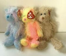 RETIRED NEW WITH HANG TAGS TY PUNKIES RAINBOW TWIZZLER FRIZZY BEAR