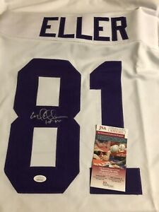 Autographed Carl Eller Minnesota Vikings jersey w/ HOF Inscription JSA signed