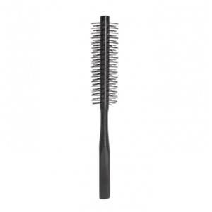 1 Piece Small Round Hairbrush for Blow-drying with Soft Nylon Hair, 21 Cm Long