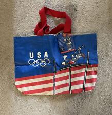 Vintage Olympics USA LOONEY TUNES  Bugs Bunny Tote Bag