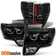 09-14 Ford F150 *Exclusive* SMD LED Halo Projector Black Headlight+LED Tail Lamp