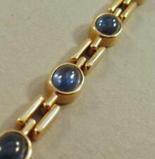 "14k Yellow Gold 7 ¼"" Sapphire Cabochon Bracelet"