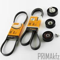 Conti 6PK1538 +5PK865 V-Ribbed Belt Set + Idler Pulley Tensioner BMW 3er E46