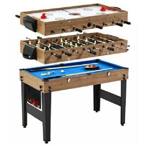 """Sports 48"""" 3 In 1 Combo Game Table, Pool, Hockey, Foosbal, Accessories Includ"""