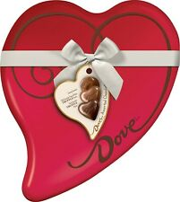 Valentine's Day Assorted Chocolate Candy Heart Heart Truffles Gift Box, 10oz Tin