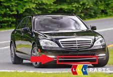Neu Original Mercedes MB S KLASSE W221 Vorne Stoßstange Mitte Chrom Zierleiste
