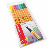 Stabilo Point 88 Fineliner – Wallet of 8 Assorted Pastel Colours – 88/8-01
